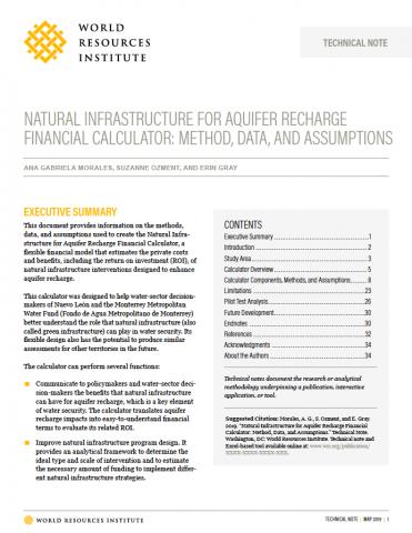 Nota técnica sobre la calculadora, disponible en línea.