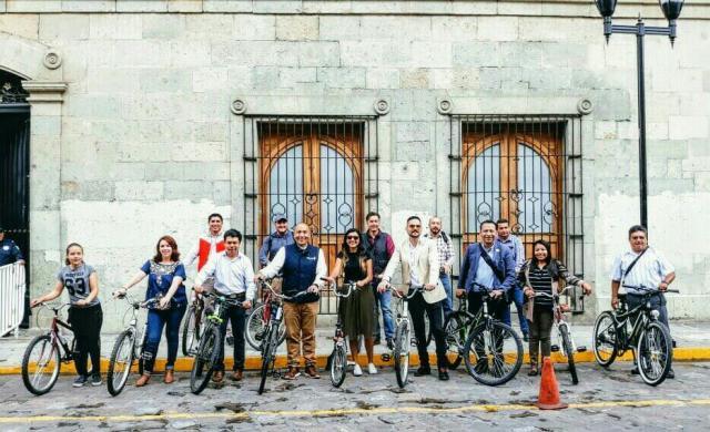 El equipo de movilidad activa de WRI Mexico en Oaxaca.
