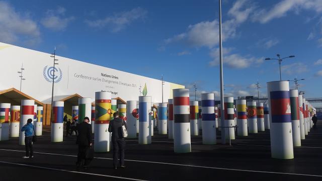 Sede de la COP21 el año pasado.