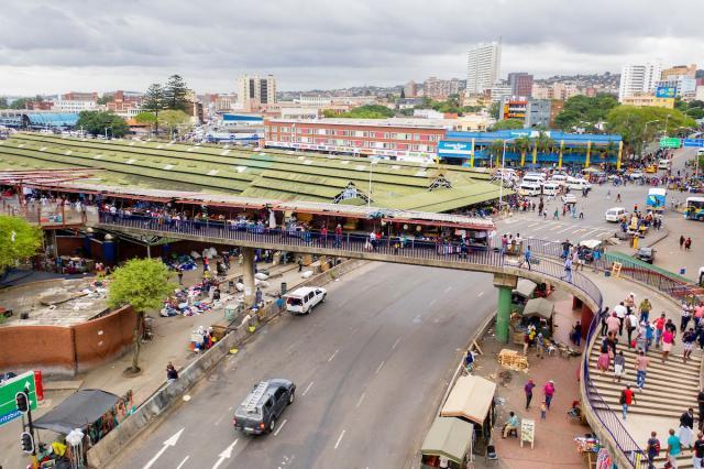 El Puente de la Música en el mercado Warwick Junction de Durban. Foto de Kyle Laferriere.
